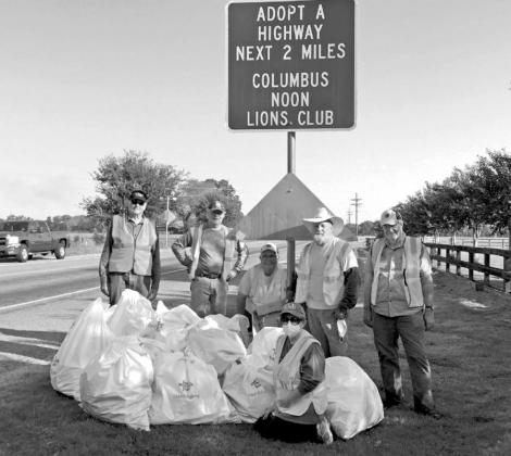 Columbus Lions clean adopted highway