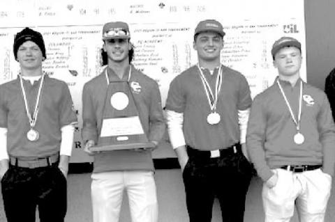 CARDINAL GOLF TAKES FIRST IN TOURNEY