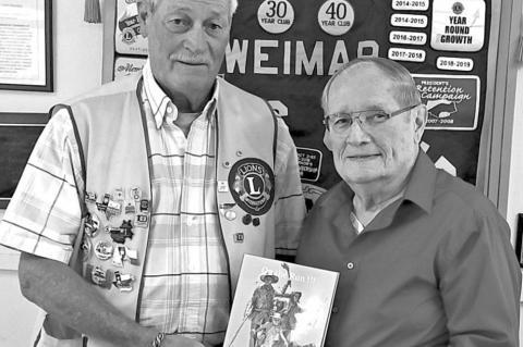 Weimar Lions Club hosts La Grange author