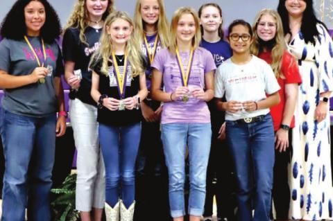 WEIMAR SEVENTH GRADE STUDENTS RECEIVE AWARDS