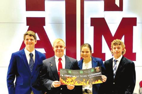 4-H TEAM PLACE IN STATE COMPETITION