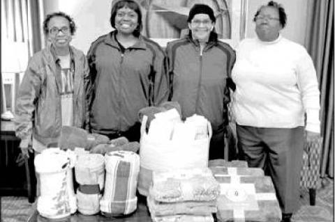 Eastern Star donates blankets to ELNR residents