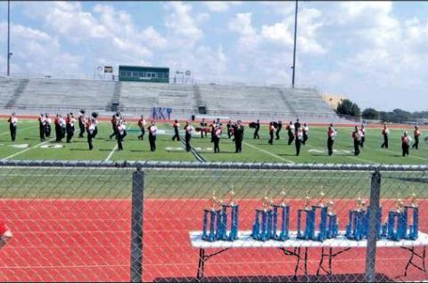 Cardinal band in action