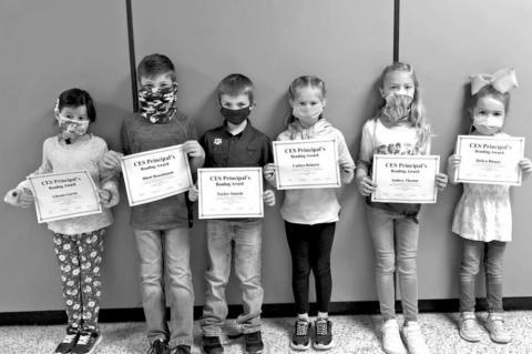 Principal's Award for Reading recipients