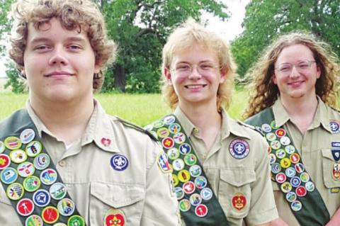Three new Eagle Scouts in Columbus