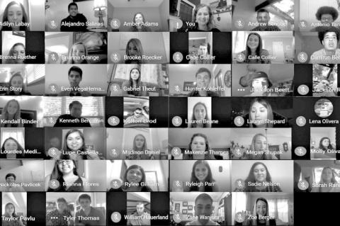 Virtual NHS induction for Columbus High School