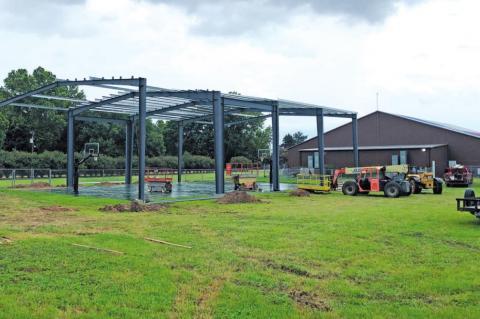 New pavilion for B&G basketball court
