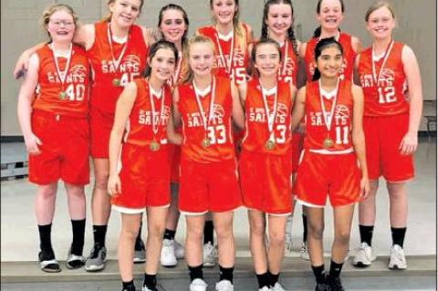 SAS girls basketball snags first place in tournament