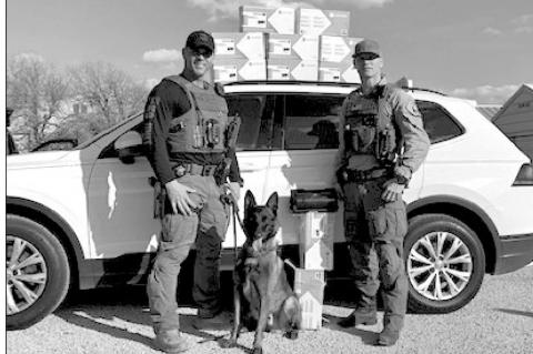 Fayette County Narcotics K-9 Unit seizes 59 pounds of Meth on traffic stop