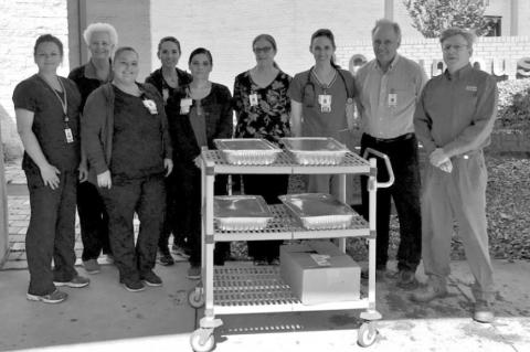 Industry State Bank thanks healthcare workers with etoufee lunch