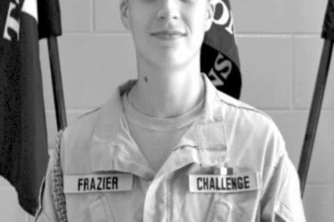 Cadet Private Kinsey J. Frazier named TCA Cadet of the Week