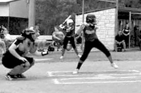Columbus Little League girls in action
