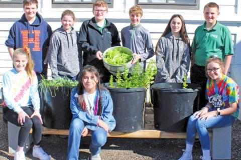 SMCS students learn gardening