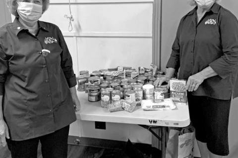 Auxiliary donates to local food bank