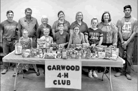 GARWOOD 4-H ONE DAY FOOD DRIVE