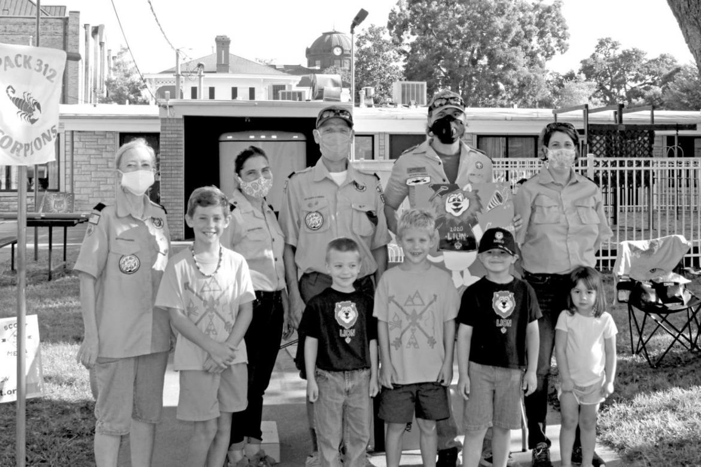 Local boy scouts advance