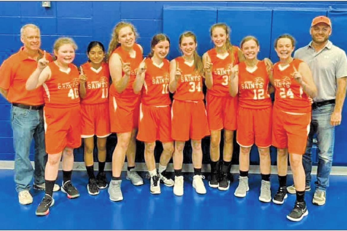 St. Anthony School basketball team makes school history