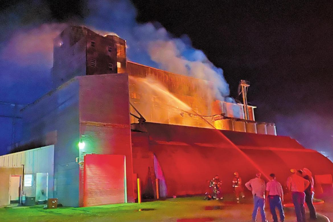 Multiple alarm fire at Garwood rice dryer