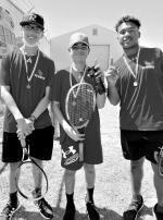 RICE JH RAIDERS MEDAL IN TENNIS